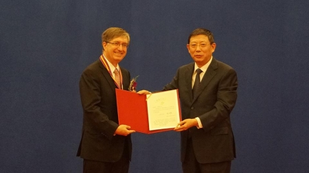 Vice Chancellor Lehman Honored With Shanghai Gold Magnolia Award