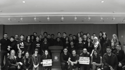 Students Sport Black to Show Solidarity with Students of Color and Mizzou